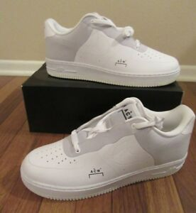 Details about Nike Air Force 1 '07 ACW Size 11.5 White Black Light Grey BQ6924 100 Cold Wall