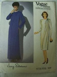 Pattern 1117 Factory-folded Tucked at Left Shoulder Size 8 Dress Designer Jerry Silverman Uncut Vogue