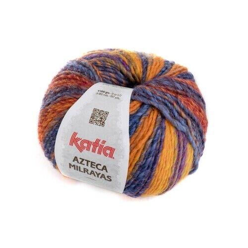 - 100 g // ca VIVOS OSCUROS 708 180 m Wolle AZTECA MILRAYAS von Katia