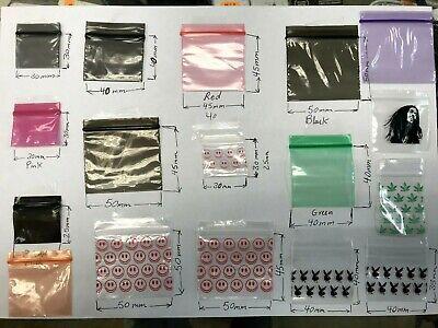 Self Seal Plastic Baggies Clear 40x30mm Pack of 1000