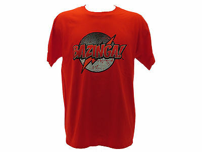 "Abile T-shirt The Big Bang Theory ""bazinga!"" Rossa Rapida Dissipazione Del Calore"