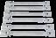 Gelenk Doppel Ring Schlüssel 12-Kant Steckschlüssel Satz 8-19 mm N 09-140 6 tlg
