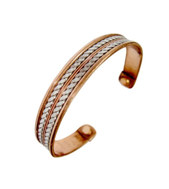 High Strength Mens Bio Magnetic Copper Bangle Bracelet Arthritis Pain Relief