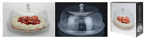 Large-33cm-Clear-Plastic-Cake-Dome-Attractive-Crystal-Effect-Plate-with-Cover