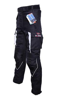Herren NEU MotorradHose Textil Trousers mit CE Geprüft Protektoren (Gr. M-L)