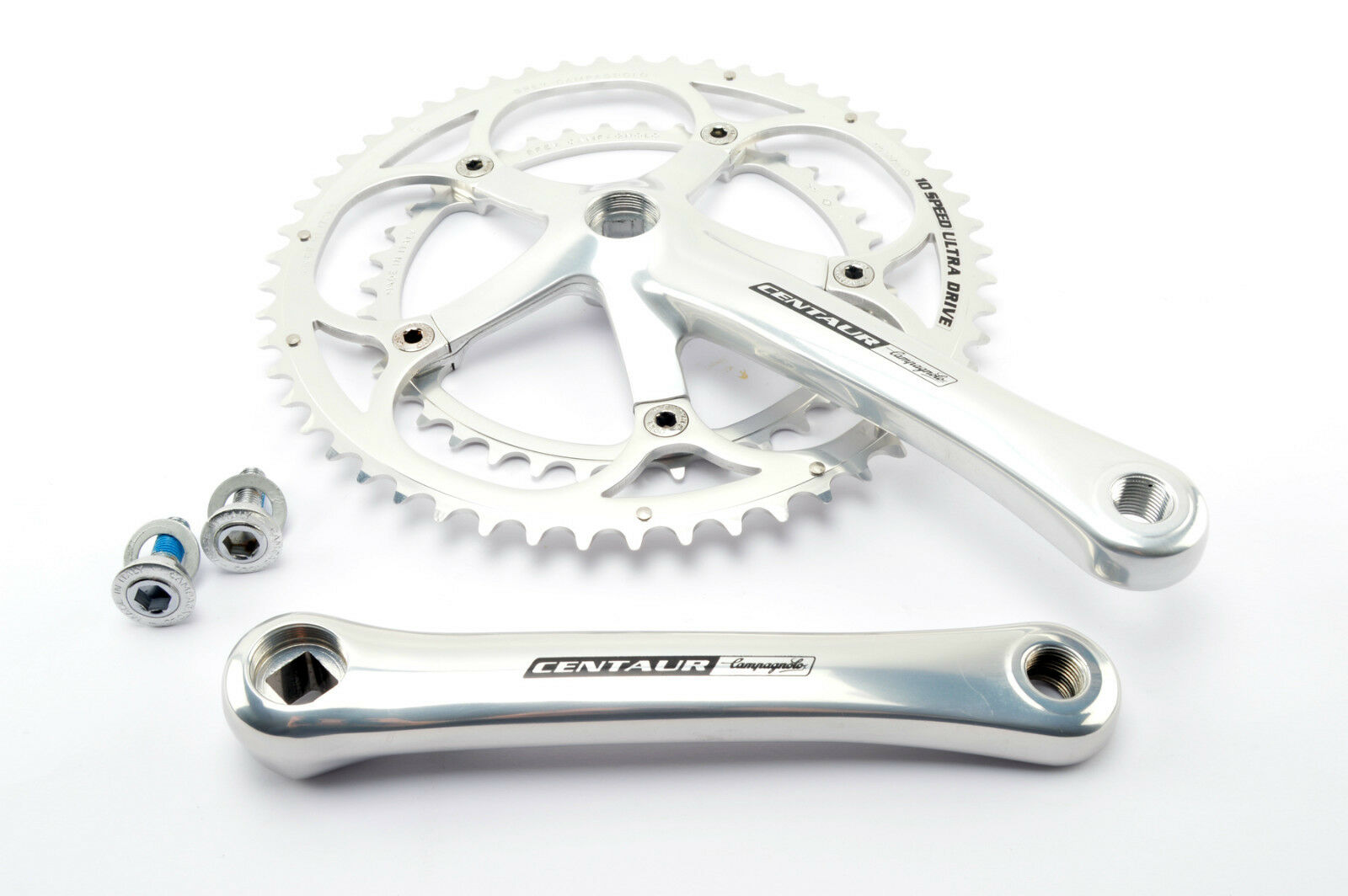 New Campagnolo Centaur 10 Speed ultradrive cranksets 53 39 teeth and 170mm nos