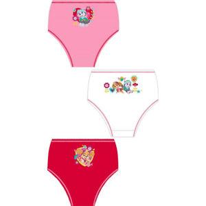 Kids Girls Paw Patrol 3 Pack Briefs Cotton Knickers Underwear Pants Ages 18M-5Y