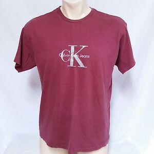 2a5f824833c3 VTG Calvin Klein T Shirt 90s Spell Out CK Jeans Tee Original Logo ...