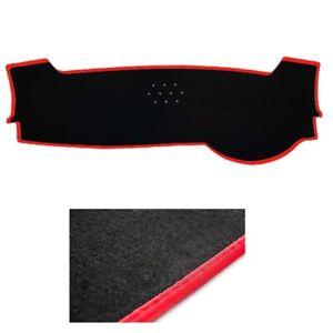 Black-w-Red-Line-Edge-Dash-Mat-Cover-for-2019-KIA-Cerato-5dr-Hatchback