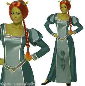 Image is loading Ladies-Official-Shrek-Long-Fiona-Princess-Halloween-Fancy-  sc 1 st  eBay : shrek and fiona halloween costumes  - Germanpascual.Com