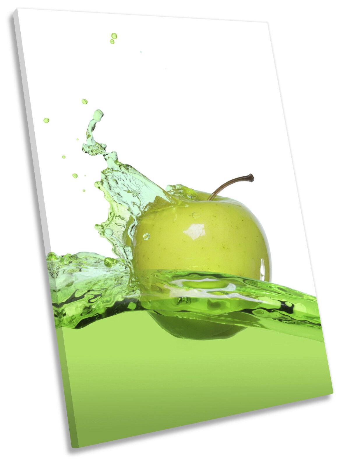 Apple Splash Kitchen Framed CANVAS Wand Kunst Drucken Bild
