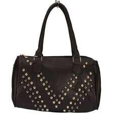 Top modische Damen Tasche, Handtasche, Schultertasche mit Nieten, Schwarz