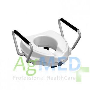 Rialzo wc alza water braccioli ergonomici bagno per disabili no sedia a rotelle ebay - Rialzo per bagno ...