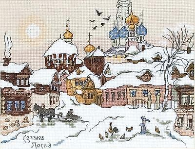 PUNTO Croce Ricamo Kit da panna AS-0920 sergiev Posad nella neve