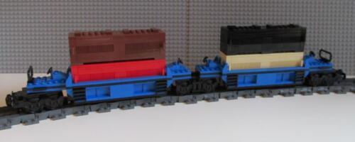 Intermodal Doublestack Car Blue PLEASE READ DESCRIPTION