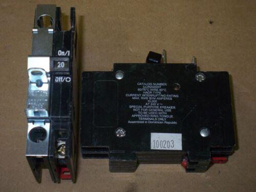 QCR 2 pole 20 amp 120//240v QCR2020HT Circuit Breaker CUTLER HAMMER QCF