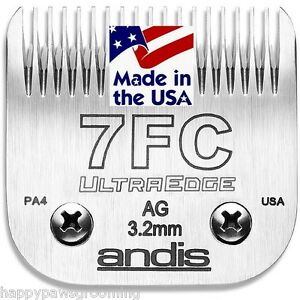Andis Lame Ag A5 Animal Chien Chat 7fc 7f Blade 1/8-3.2mm Convient À Oster, Wahl