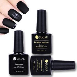 Nail-No-wipe-Top-Coat-Base-Coat-Gel-Polish-Soak-Off-UV-LED-Gel-Matte-7-5ml