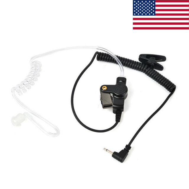 2 Pieces Listen Only Acoustic Tube Headset 3.5mm Plug Pin for Speaker Mic