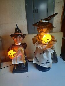 Halloween VTG 1986 Telco Witch Motionette Animated Plus another Unknown Witch
