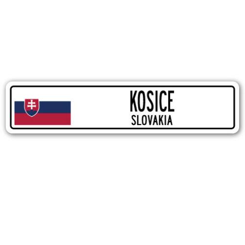 KOSICE SLOVAKIA Street Sign Slovak flag city country road wall gift