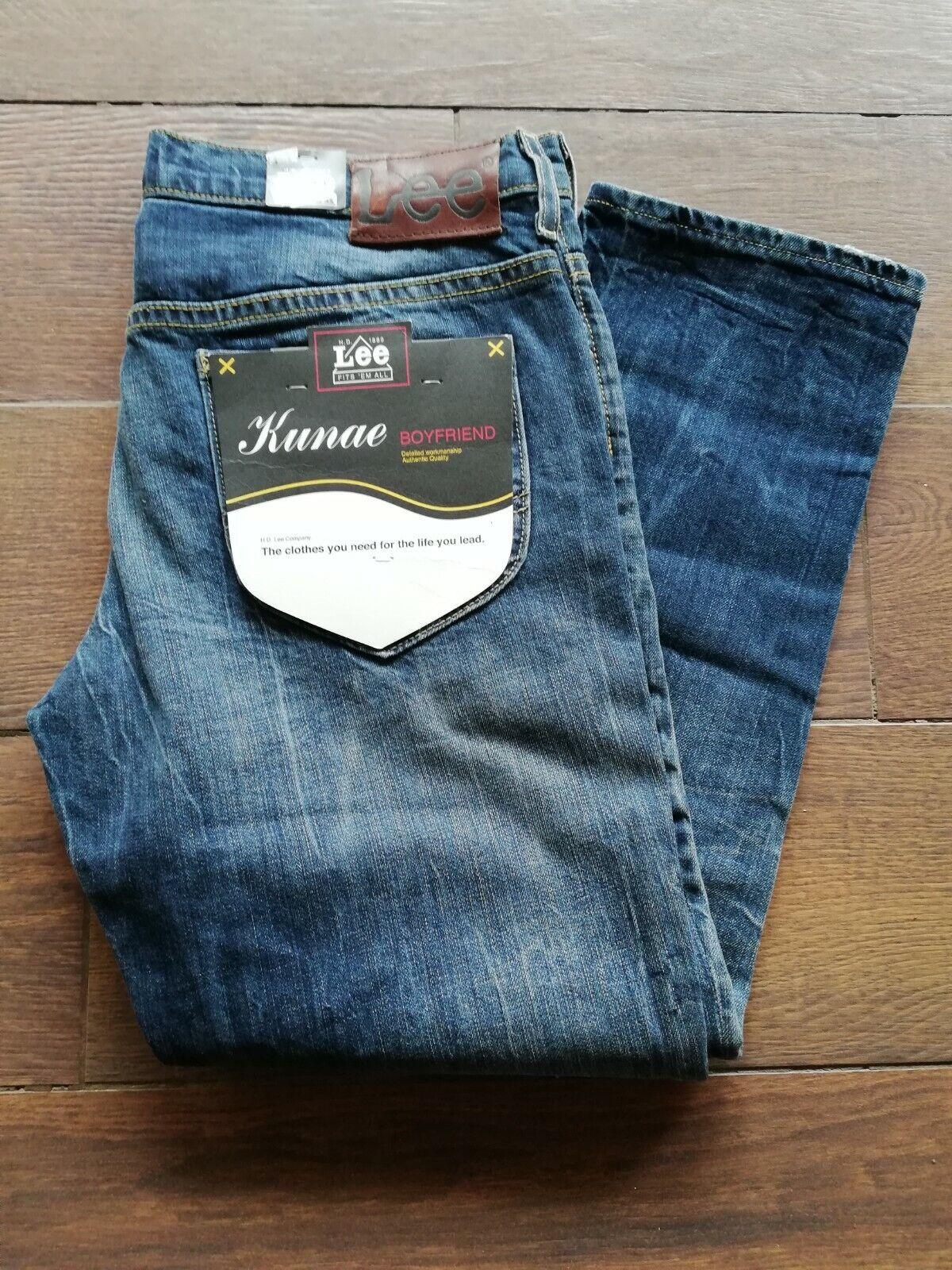 Original Lee Damen Jeans Kunae Boyfriend W28     L31 Jeans blau Neu | Mangelware  031592