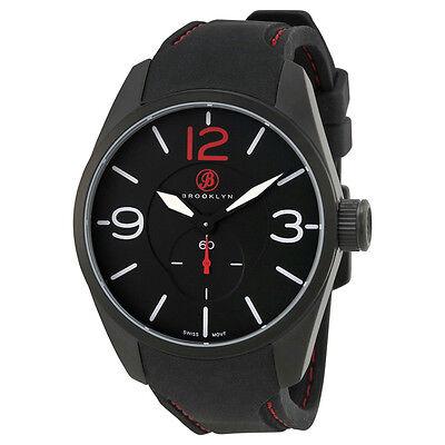 Brooklyn Watch Co. Mens Casual Lafayette Black Swiss Quartz Watch BW-CLA-I