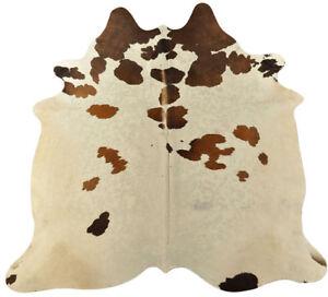 Pelle di Mucca Toro Marrone Bianco 200 x 185 Bovina Cm Tappeto | eBay