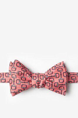 Alynn 100/% Silk Pink Bit by Bit Horse Racing Derby Horses Butterfly Self Bow Tie