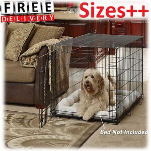 Folding-Crate-Pet-Dog-Cage-Metal-Medium-Large-Single-Double-Door-Divider-Kennel