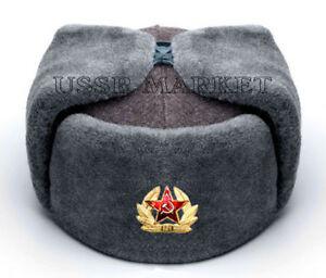 9ad0afef807 Image is loading AUTHENTIC-SOVIET-RUSSIAN-RED-ARMY-USHANKA-WINTER-HAT-