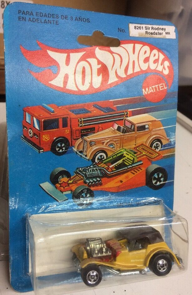 HOT WHEELS - MEXICAN  SIR RODNEY ROADSTER  8261 AURIMAT MEXICO MINT IN BP