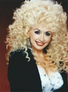 Details About Dolly Parton Mid Length Afro Curly Synthetic Capless Hair Wigs 14 Inches