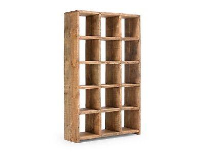 BÜCHERREGAL REGAL NATUR Bücherschrank Holz Wohnzimmer Möbel