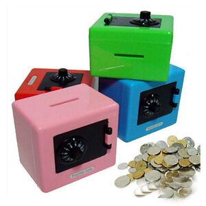 Password saving piggy bank plastic combination lock money for Secret piggy bank