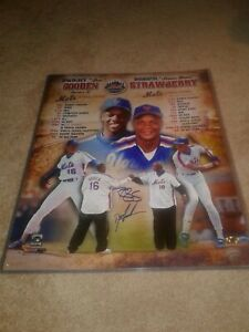 New-York-Mets-Dwight-034-Doc-034-Gooden-amp-Darryl-Strawberry-Signed-Auto-16x20-MAB-Holo