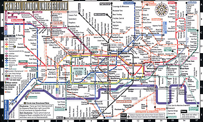 Easy London Map.Streetwise London Underground Map Laminated Map Of The London Underground Ebay