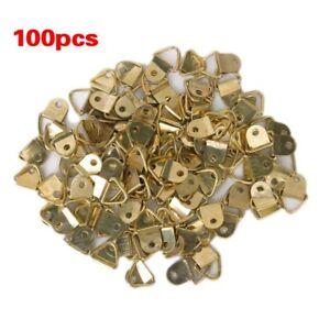 100-Stueck-Klein-D-Ring-Bilderrahmen-Aufhaenger-Single-Hole-mit-Schrauben-P3S-J1
