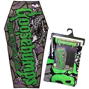 Kreepsville-666-Goosebumps-Logo-Skeleton-Punk-Horror-Coffin-Beach-Towel-HWCBTGBL