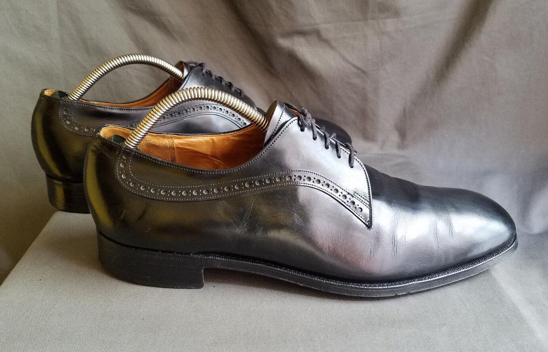 Hommes Noir Cuir CHURCH'S ALDWYCH Plain Toe Blücher   Chaussures SZ-UK 13 US 14
