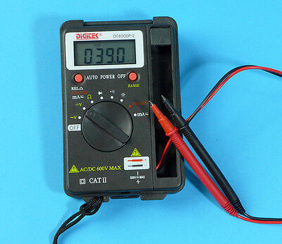 Digitek DT-4000P-2 Pocket Digital Multimeter 4000-count Autorange 0.5% Accuracy