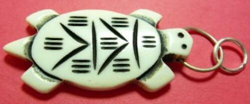 10 piece Bone Horn Pendant TURTLE Carved 2  inch # BT 4