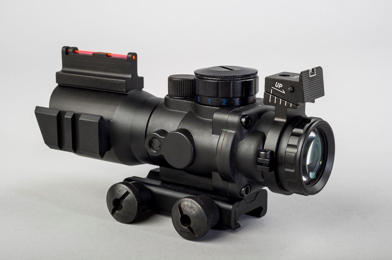 Ra- 4 x 32 Tri-Lume™ Prismáticos Mil-Dot ultracompacto 'ACOG' Mira