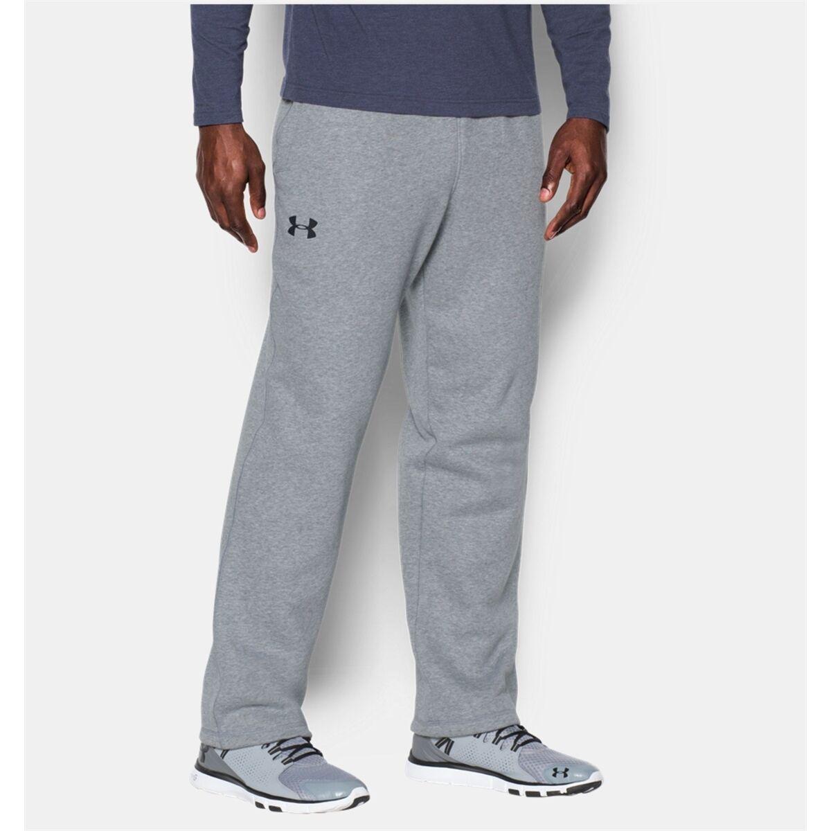 Herren Under Armour Pants grau Storm Rival Fleece Pants Loose Fit 1280779 New