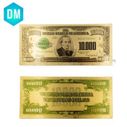 5pcs USA $500-100000 Dollar Gold Banknote Colorful World Money Golden Bank Notes