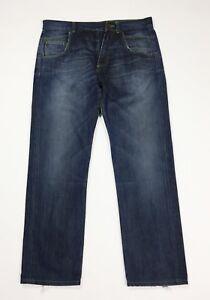 Dondup-luke-jeans-uomo-usato-gamba-dritta-W33-tg-47-straight-boyfriend-T4582