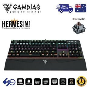 PC-Computer-Gaming-Keyboard-Mechanical-Brown-Switch-7-Color-Backlight-HERMES-M1