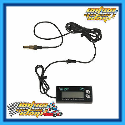 GO KART ENGINE DIGITAL WATER TEMPERATURE KIT H2O TEMP 0 -120C ROTAX X30 NEW