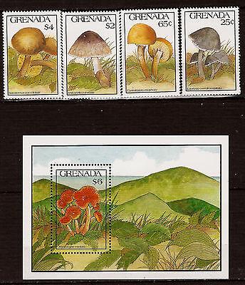 Aufstrebend Pilze Grenada 1991 Block Und Briefmarken Neu 52m11 BüGeln Nicht Natur & Pflanzen