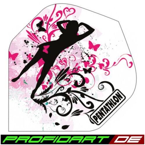 12 PROFIDART Dart Flights Flys Flügel Standard Pentathlon Girl Lady 100 Mikron